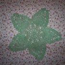 """Varigated Green Hand Crochet Pineapple Doily, 8"""", New"""