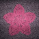 "Dark Pink Hand Crochet Pineapple Doily, 8"", New"