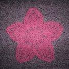 """Dark Pink Hand Crochet Pineapple Doily, 8"""", New"""