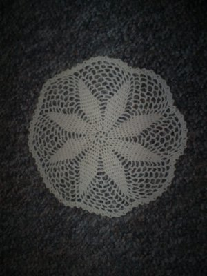 Vintage Hand Crochet Doily, Approximately 8 1/2 Inches Round