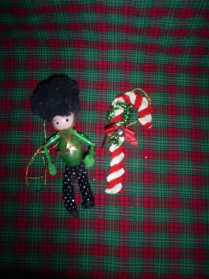 Two Vintage Christmas Ornaments, Handmade
