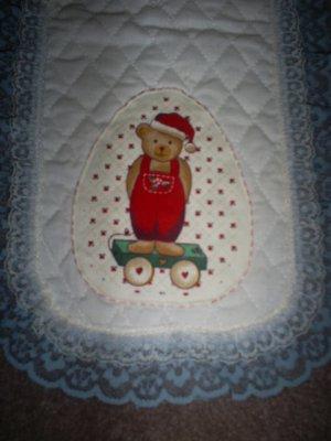 Teddy Bear Table Runner, New, Handmade