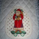 Christmas Santa Table Runner, New, Handmade