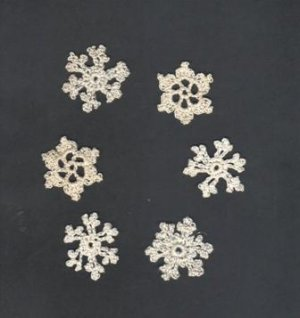 Snowflakes, Hand crochet Set of Six Assorted, New