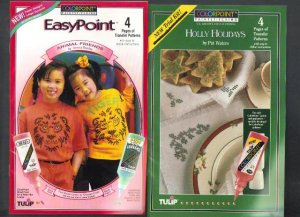 Two Color Point Paintstitching pamplets, Holiday & Animal Friends