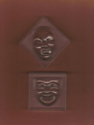 Two Theatrical Mask Molds, New Craft Supply