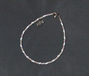 Handmade 9 inch Beaded  Bracelet, Pink White HOPE New