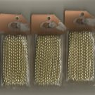 Gold 4MM Pearl Strings, 3 - 5 yard strings, New