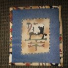 Country Kichen Cow Jean  Hot Pad Pot Holder, New, Handmade