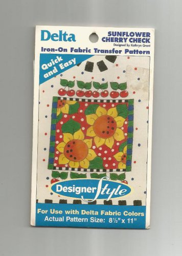 Two New Delta Iron On Transfers, Sunflower Cherry Check