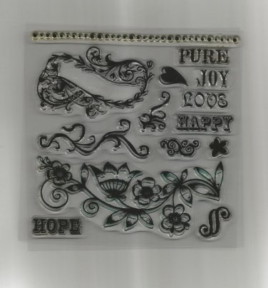 """Set of 15 Acrylic Stamps, """"Hope"""", New"""