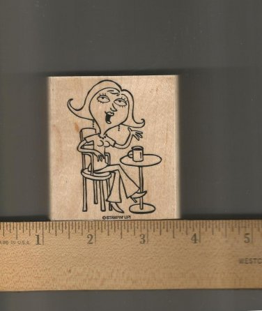 Stampin Up Rubber Stamp,Morning Coffee, New