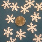 """Package of over fifty 3/4"""" White Pearl Paper Snowflakes, New"""