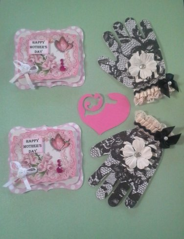 Package of Four Scrapbooking & Cardmaking Embellishments, New