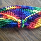 "Hand Crochet Headband, New, Varigated Brights, 19"" and stretches to 22"""