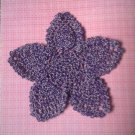 """Hand Crochet Pineapple Doily, 9 1/2"""", Dark Purple/White, New"""