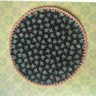 "St Patrick's Hand Crochet  Gold Edge Doily, 8 1/2"", New"