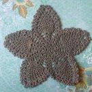 """Hand Crochet Pineapple Doily, 9 1/2"""",  Kakhi, New"""