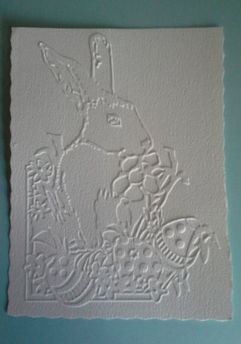 Darice Embossing Folder, Easter Rabbit, Gently Used