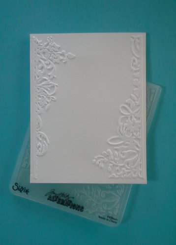 Sizzix Embossing Folder, Floral Borders, Gently Used