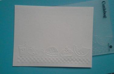 Cuttlebug Embossing Folder, Summer Food Fun, Gently Used