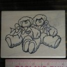 Mounted Rubber Stamp, Bears