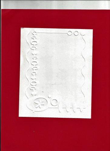Cuttlebug Embossing Folder, 5X7, Christmas Holiday Ornament Border