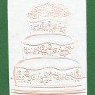 Darice Embossing Folder, Three tier Birthday cake, Gently Used