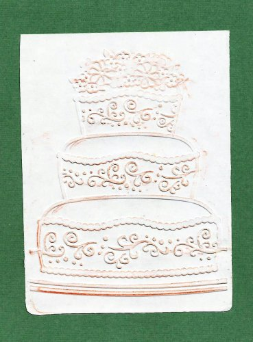 Darice Embossing Folder, Three tier Birthday cake, Gently Used