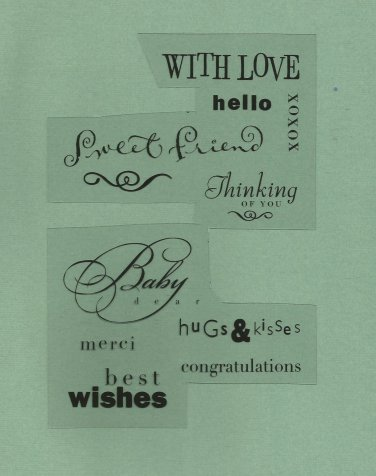 Set of  Acrylic Stamps, happy designs Never used
