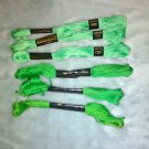 Green  embroidery floss, 6 skeins