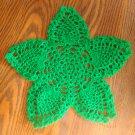 "Hand Crochet Pineapple Doily, 9 1/2"",  Holiday Green, New"