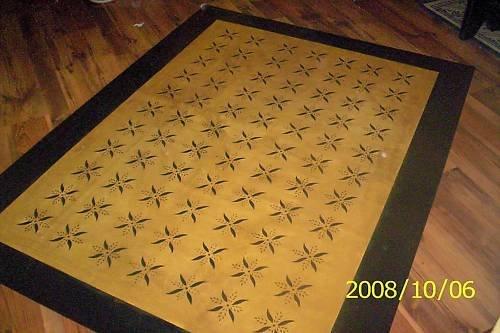 Primitive Floorcloth Floor Cloth Area Rug Folkart