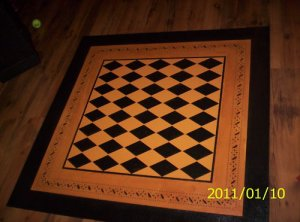 Primitive Floorcloth Floor Cloth Area Rug 4x4folkart