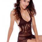 Chocolate Fringe Crochet Dress