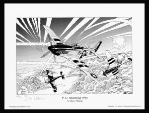P-51 Mustang's Prey Signed & Numbered Print