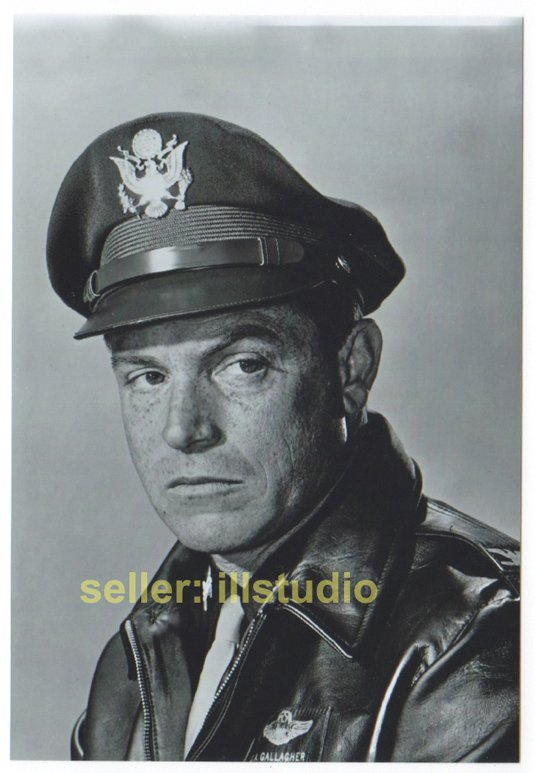 PAUL BURKE- Col. Gallagher 12 O'clock High RARE 4x6 PHOTO in MINT CONDITION #8