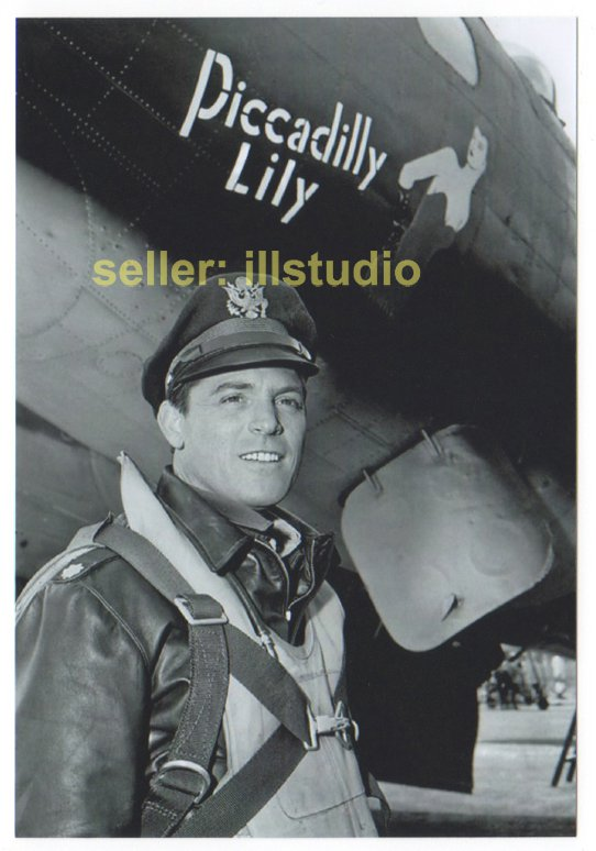 PAUL BURKE- Col. Gallagher 12 O'clock High RARE 4x6 PHOTO in MINT CONDITION #9