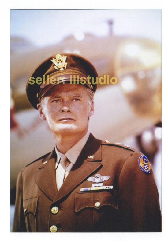 JOHN LARKIN as General Wiley Crowe 12 O'clock High RARE 4x6 PHOTO in MINT CONDITION #33