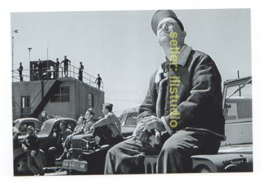 Waiting for the B-17s Return~12 O'clock High RARE 4x6 PHOTO in MINT CONDITION. #42