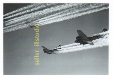 B-17s, the 918th in Flight 12 O'clock High RARE 4x6 PHOTO in MINT CONDITION #54