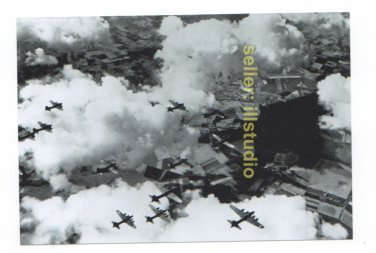 918th B-17 Formation~12 O'clock High RARE 4x6 PHOTO in MINT CONDITION #56
