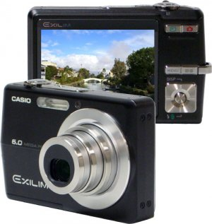 Casio Exilim EX-Z600BK 6MP Digital Camera with 3x Optical Anti-Shake Zoom (Black) Reconditioned