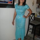 Lovely aqua Evening gown by Lillie Rubin