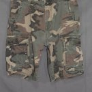 Men's Old Navy Camo Cargo Shorts Cotton Twill Olive Green Military Camouflage 33