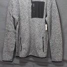 NEW Aeropostale Men's Quarter-zip Marled Fleece Sweater Pullover Jacket MED