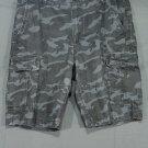 Men's Old Navy Black Camo Cargo Shorts Ripstop Cotton 33