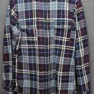 NWOT Men's Goodfellow & Co. Standard Fit Flannel Shirt Cotton Blue Plaid MEDIUM