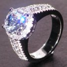 Elegant 2.7 ct Ziron Ring with 3 Rows Ziron