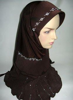 Abaya Hijab Turban Fatta Wisteria Muslim Cap